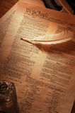 US-Konstitution voll Stockfoto