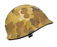 US Korean War Helmet Stock Photo