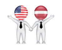 US-Latvian cooperation concept. Stock Photography