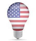 Us ldea lightbulb illustration design. Over white Royalty Free Stock Image