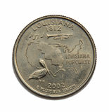 US Louisiana quarter dollar Stock Photography
