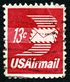 US-Luftpost-Briefmarke Stockbilder
