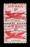 US-Luftpost-Stempel Stockbilder