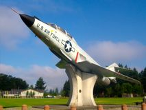 US-Luftwaffe-kämpfender Jet lizenzfreie stockbilder
