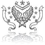 US-Luftwaffen-Abzeichen mit Farbbändern Stockfoto