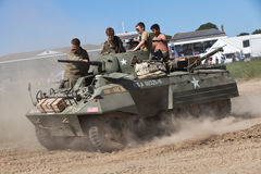 US M7 armoured car Stock Photos