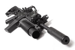 US M4A1 assault carbine with grenade launcher Royalty Free Stock Photo