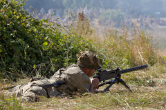US machine gunner Royalty Free Stock Images
