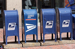 US Mail Boxes Stock Photo