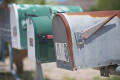 US mail boxes, TX, US Royalty Free Stock Image