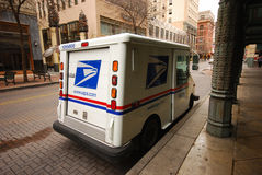 US mail delivery car Stock Photo