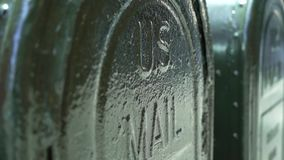 US Mail letterbox. On a New York street stock footage