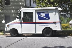 US mail truck royalty free stock photo