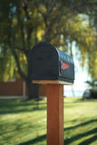 US Mailbox. Mailbox in rural united states stock photo