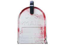 Us mailbox isolated Royalty Free Stock Images