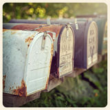 US mailboxes instagram Royalty Free Stock Images