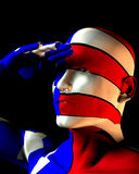 US Man 3. A man with the American flag on his body, a great image for every patriotic American royalty free illustration
