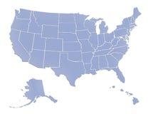 US map. Full map USA on white background stock illustration
