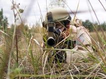 US Marine. Aiming at you Royalty Free Stock Photo