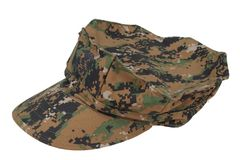 Us marine camouflage cap Stock Images