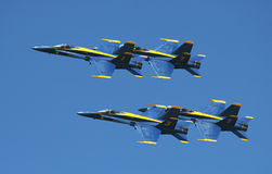 US Marine Corps Blue Angels demonstration squadron royalty free stock images