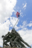 US Marine Corps War Memorial. The United States Marine Corps War Memorial depicting the flag raising at Iwo Jima Royalty Free Stock Images