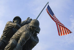 US Marine Corps War Memorial. The US Marine Corps War Memorial is located near Arlington National Cemetery in Rosslyn, Virginia. It is dedicated to all personnel Royalty Free Stock Images