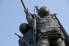 US Marine Corps War Memorial. The US Marine Corps War Memorial is located near Arlington National Cemetery in Rosslyn, Virginia. It is dedicated to all personnel Royalty Free Stock Image