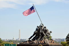 US Marine Corps War Memorial Stock Photos