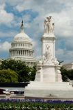 US-Marine-Denkmal und US-Kapitol Lizenzfreie Stockbilder