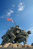 US Marine Memorial. Marine Memorial in Washington DC depicting US marines raising the US flag Stock Images