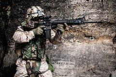US Marine Soldier lizenzfreie stockbilder