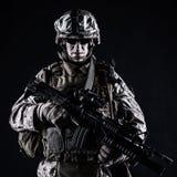 US marine studio shot on black background Stock Photography
