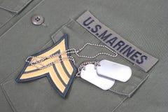 US-Marinehintergrund Stockfotografie