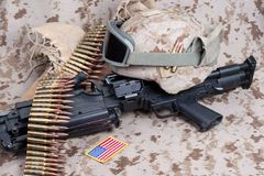 US Marines background concept Royalty Free Stock Photo