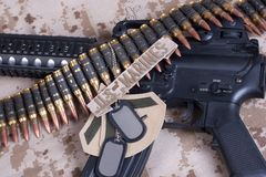 US Marines concept with firearms Royalty Free Stock Images