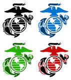 US marines emblem Stock Photos
