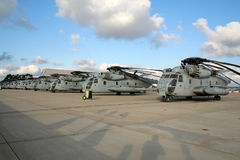 US Marines Helicopters Stock Photo