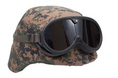 Us marines kevlar helmet Royalty Free Stock Images
