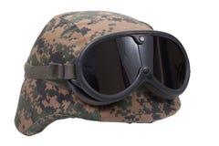 Us marines kevlar helmet Royalty Free Stock Images