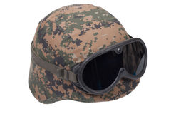 Us marines kevlar helmet Stock Photos