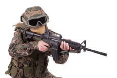 US MARINES with m4 carbine Royalty Free Stock Image