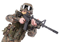 US MARINES with m4 carbine Stock Photography