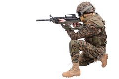 US MARINES with m4 carbine Royalty Free Stock Photos