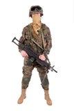 US MARINES with M249 machine gun Royalty Free Stock Image