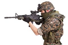 US MARINES with rifle foto de stock royalty free