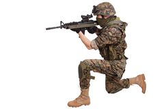 US MARINES with rifle Royalty Free Stock Photography