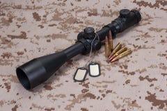 US MARINES sniper concept Stock Image