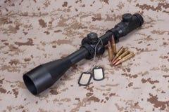 US MARINES sniper telescopic sight Stock Image