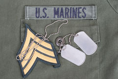 Us marines uniform Royalty Free Stock Images
